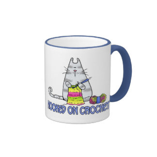 hooked on crochet ringer coffee mug