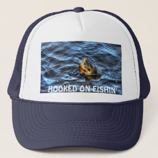 HOOKED ON FISHIN' Blue Gill Sun Fish Art Trucker Hat