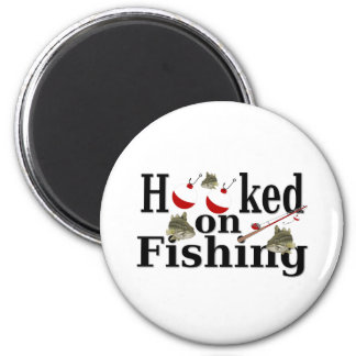 hooked on fishing 2 inch round magnet