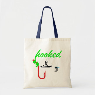 hooked on fishing canvas bags