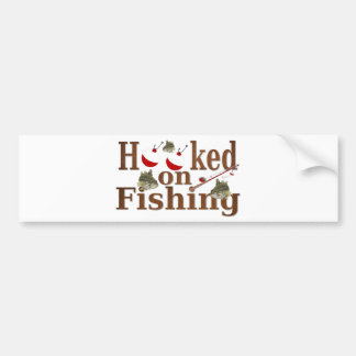 hooked on fishing bumper sticker