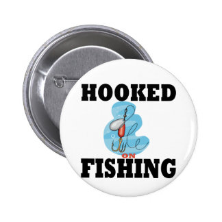 Hooked on Fishing Pinback Buttons