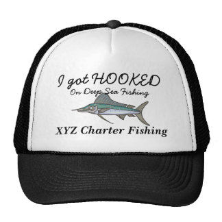 hooked on fishing cap hat