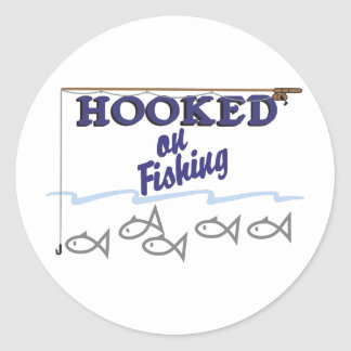 Hooked On Fishing Classic Round Sticker