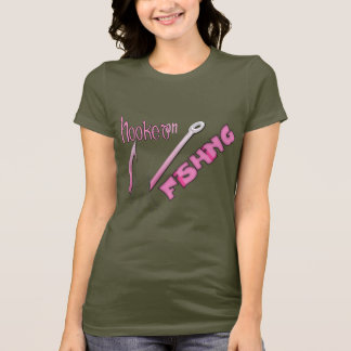Hooked On Fishing Pink Hook T-Shirt