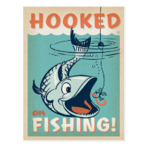 Hooked on Fishing Postcard