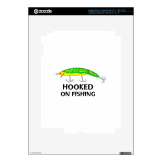 HOOKED ON FISHING DECAL FOR iPad 3