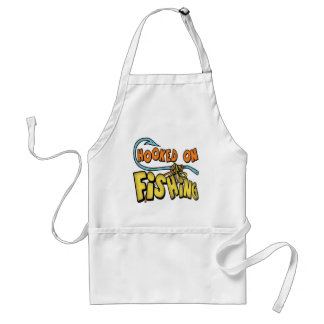 Hooked On Fishing T-shirts Gifts Adult Apron