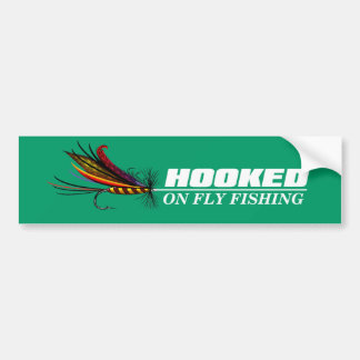 Fish hook stickers zazzle for Hooked on fishing