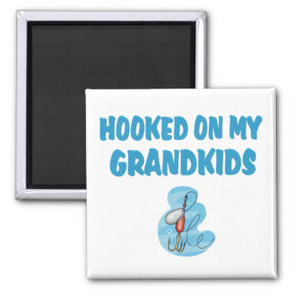 Hooked on Grandkids(Fishing) Refrigerator Magnet