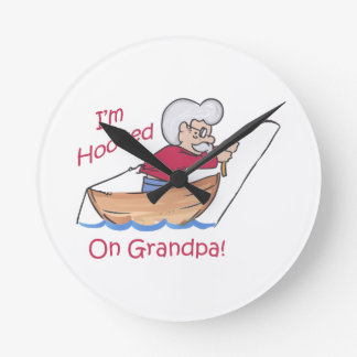 HOOKED ON GRANDPA ROUND CLOCK