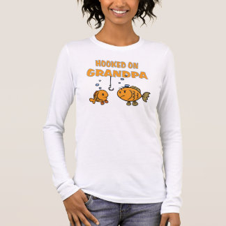 Hooked on Grandpa (fish) Long Sleeve T-Shirt