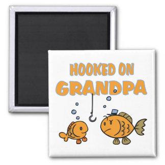 Hooked on Grandpa (fish) Magnet