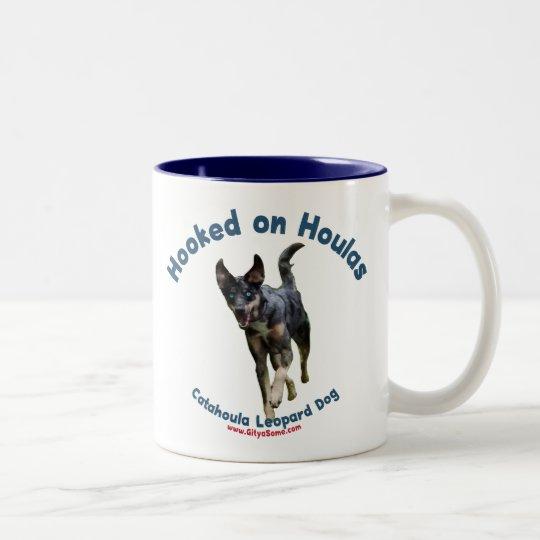 Hooked on Houlas Dogs Two-Tone Coffee Mug