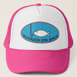 Hooked on Jesus Baseball Cap
