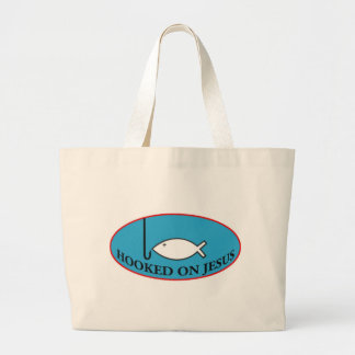 Hooked on Jesus Tote Bag
