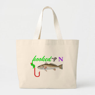 hooked on redfish canvas bag