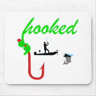 hooked on tournament fishing mouse pad