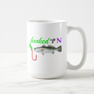 hooked on trout classic white coffee mug