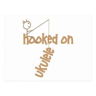 Hooked On Ukulele Postcard