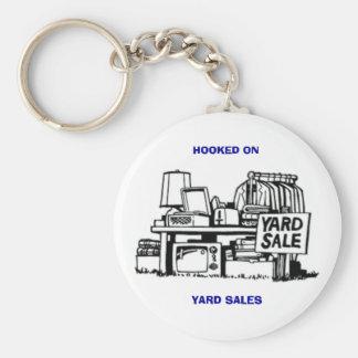 Hooked on Yard Sales Basic Round Button Keychain