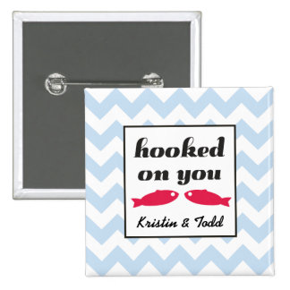 Hooked On You Kissing Fish Pin