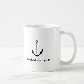 Hooked on you! classic white coffee mug