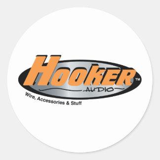 Hooker Audio Merchandise Classic Round Sticker