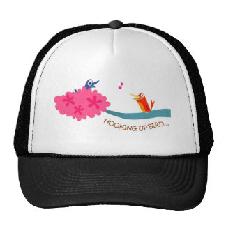 Hooking-up bird mesh hat
