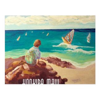 hookipa windsurfing tarjeta postal