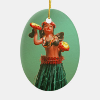 Hoola Girl Ceramic Ornament