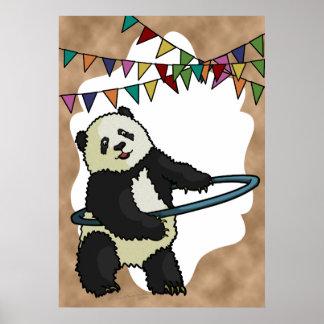 Hoola Hooping Panda, print Poster