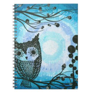 Hoolandia (c) 2013 - búho 02 del contraste cuaderno