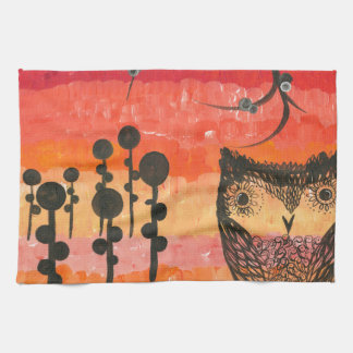 Hoolandia (c) 2013 - Contrast Owl 01 Hand Towels