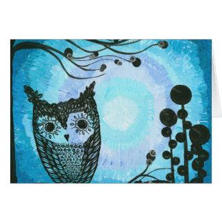Hoolandia (c) 2013 – Contrast Owl 02 Greeting Card