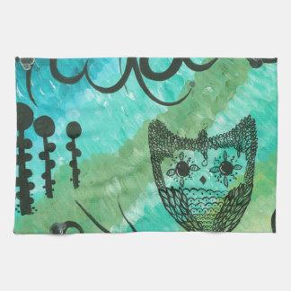Hoolandia (c) 2013 - Contrast Owl 04 Hand Towels