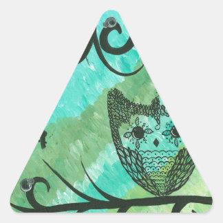 Hoolandia (c) 2013 - Contrast Owl 04 Triangle Sticker