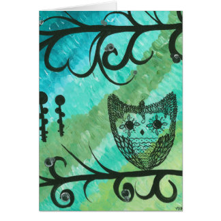 Hoolandia (c) 2013 – Contrast Owl Greeting Card