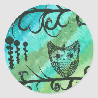 Hoolandia (c) 2013 – Contrast Owl Classic Round Sticker