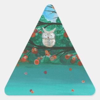"""Hoolandia (c) 2013 - el búho sazona - """"caídas """" calcomania de triangulo"""