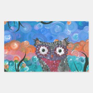 Hoolandia (c) 2013 – Expressions Owl 01 Rectangular Sticker