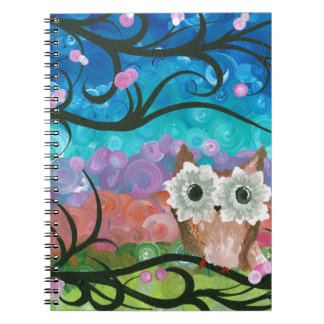 Hoolandia (c) 2013 – Expressions Owl 02 Notebook