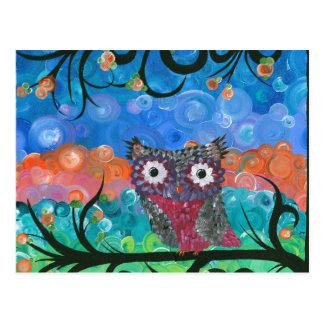 Hoolandia (c) 2013 – Owl Expressions Series Postcard