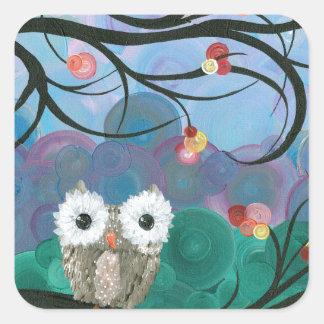 Hoolandia (c) 2013 – Owl Expressions Series Square Sticker