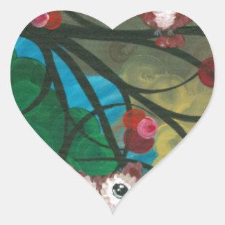 Hoolandia (c) 2013 – Owl Expressions Series Heart Stickers