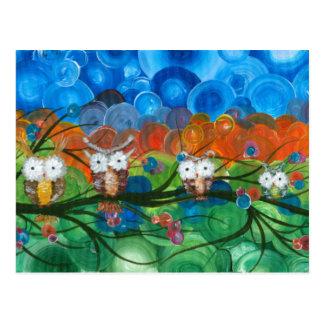 Hoolandia (c) 2013 – Owl Family Trees Postcard