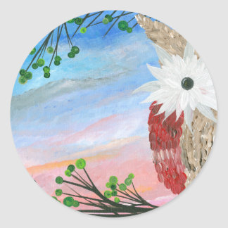 Hoolandia (c) 2013 – Owl Half-a-Hoot Series Classic Round Sticker