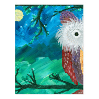 Hoolandia (c) 2013 – Owl Half-a-Hoot Series Postcard
