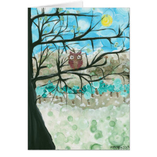 Hoolandia (c) 2013 – Owl Seasons Greeting Card