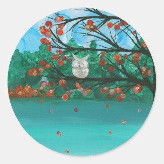 Hoolandia (c) 2013 – Owl Seasons Classic Round Sticker